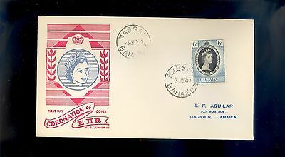 Bahamas Coronation Of Queen Elizabeth II First Day Cover 1953