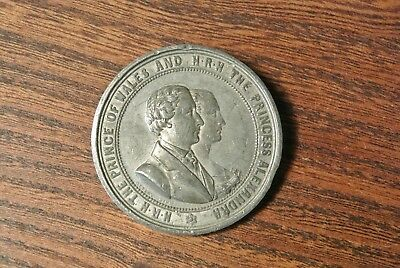 PRINCE OF WALES WEDDING TO ALEXANDRA MARCH 10 1863 medallion - 52mm dia  (PM261)