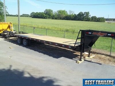 2 carhauler gooseneck 10 ton deckover equipment trailer 30ft flat bed 102in 25+5