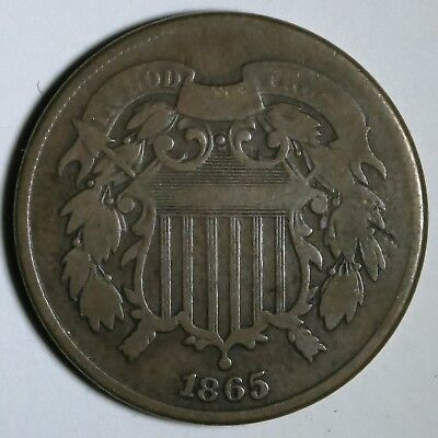 1865 2C Two Cents
