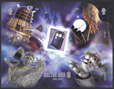 GB 2013 50th Anniversary of Doctor Who u/m mnh s/a stamp miniature sheet MS3451