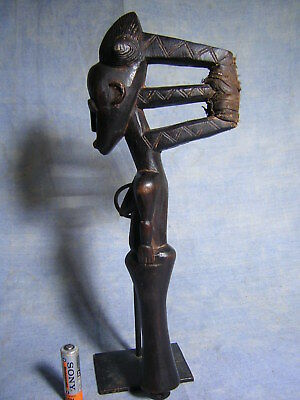 Superbe Marteau A Gong Baoule Statue Africaine African Art Africain Masque Mask