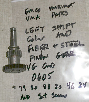 "Emco Maximat ""BLUE"" Vertical Milling Parts: Left Fork Fiber Pinion Gear 0605"