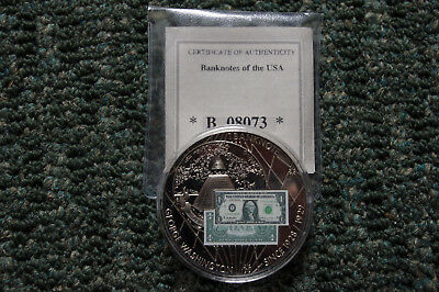 Banknotes of the US $1 Medal, American Mint