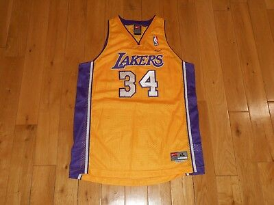 a3ea8ccc Vintage Nike SHAQUILLE O'NEAL LOS ANGELES LAKERS Youth NBA Swingman JERSEY  Sz XL