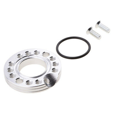 26mm Silver Alloy Carburetor Carby Intake Manifold Adaptor Kit Spinner Plate