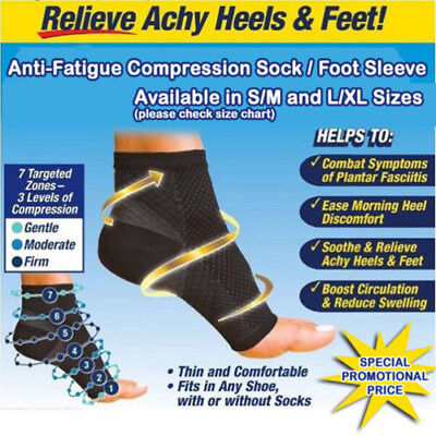 Fasciitis Foot Angel Ankle Sleeve Anti Fatigue Compression Swelling Relief Socks