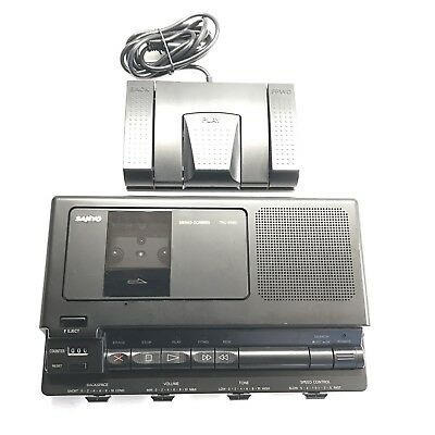 Sanyo TRC 8080 Cassette Transcriber Foot Pedal Playback See Description