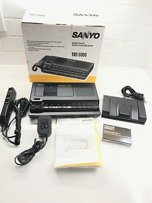Sanyo TRC-8800 Compact Cassette Recorder Transcriber Dictating