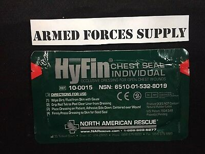 North American Rescue Hyfin Chest Seal Gauze REF First Aid Medic Gear Field