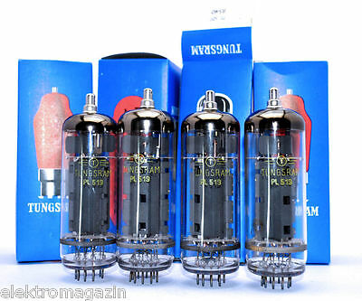 4x PL519 TUNGSRAM Matched Quartet TUBE AMPLIFIER  电子管放大器 AMP  Röhre NOS NIB RARE