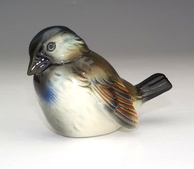 Vintage Goebel Porcelain - Hand Painted Sparrow Bird Figure - Lovely!