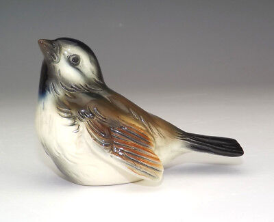 Vintage Goebel Porcelain - Hand Painted Sparrow Bird Figure - Very Nice!