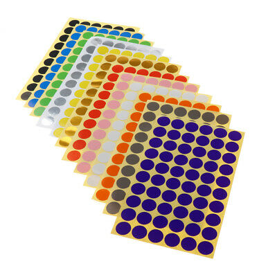 Color Coding Labels Dot Stickers Round Circle Stickers 15mm 4200pcs