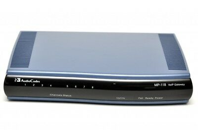 AudioCodes MediaPack MP-118 VoIP Gateway 8 Port *ZB352*