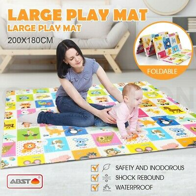 Foldable Nontoxic Baby Kids Play Mat Floor Rug Alphabet Animal Picnic Crawling