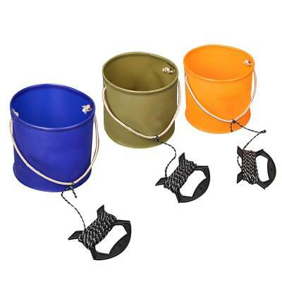 Collapsible Fishing Bucket EVA Washing Camping Foldable Fish Water Pail