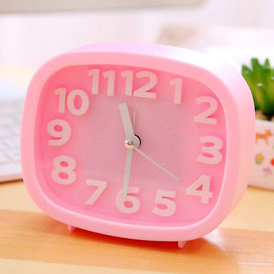 Fashion Home Outdoor Portable Cute Mini Dial Number Round Desk Alarm Clock