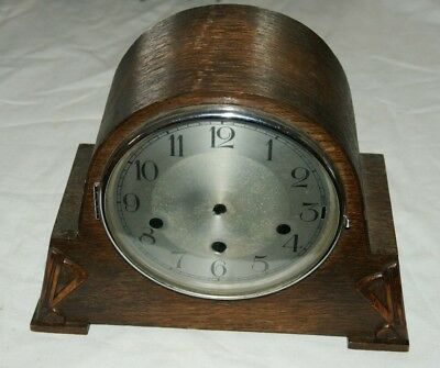 Vintage Empty Oak Clock Case - With Face, Glass & Bezel ( For Chiming Movement)