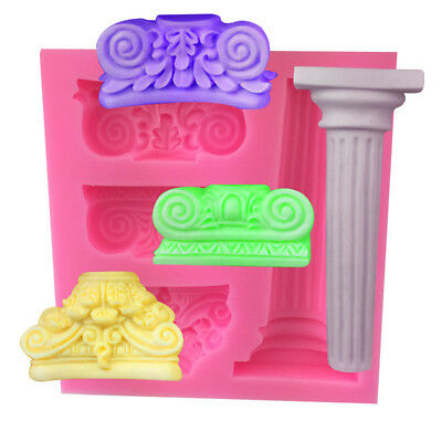 Ancient Stone Silicone DIY Cake Fondant Chocolate Cookies Decorate Mold Tool