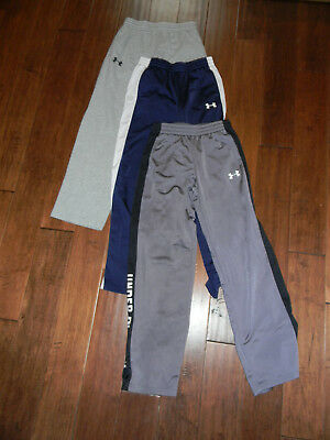 Under Armour Lot Of 3 Boys/youth Sz Large Long Loose Fit Athletic Pants