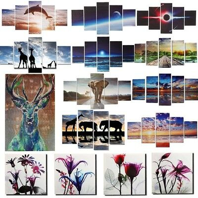 5 Panels Unframed Oil Painting Picture Abstract Art Canvas Print Home Wall Decor