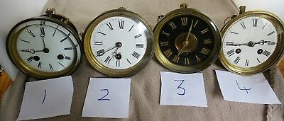 4 19thC Slate Mantel Clock Part Movements for Spares