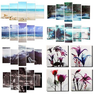 5 Panels Framed Modern Art Canvas Oil Painting Picture Print Home Wall Decor UK
