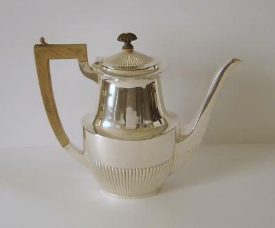 Vintage Dutch High Grade 1st Standard Purity Heavy Solid Silver Coffee Pot 1922