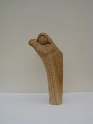ONE  WOODEN CARVED FROG HEAD  STICK Handle  for Walking stickmaking