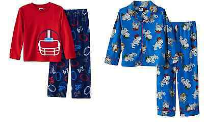 NWT ☀FLEECE☀ FOOTBALL Boys UP-LATE Pajamas  New YOU PICK 4 6  $28