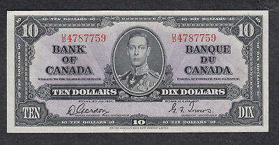 1937 Canada 10 Dollars Bank Note Gordon