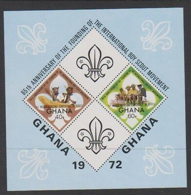 Ghana - 1972, Anniversary of Boy Scouts sheet - MNH - SG MS651