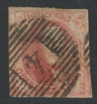 Belgium - 1861, 40c Carmine King Leopold - 4 Margins - Used - SG 15 (i)