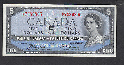 1954 Canada 5 Dollars Bank Note Devil Face Coyne / Tower