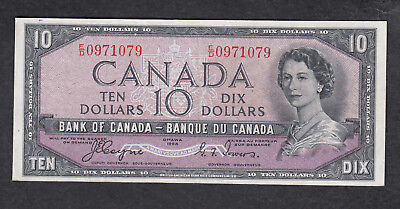 1954 Canada 10 Dollars Bank Note Devil Face Coyne / Towers
