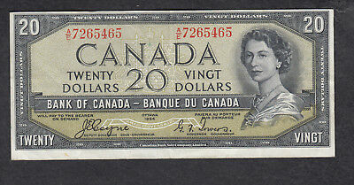 1954 Canada 20 Dollars Bank Note Devil Face Coyne / Towers
