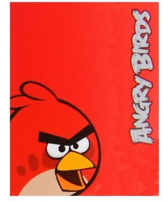 Official Angry Birds Soft Red Fleece Throw Blanket