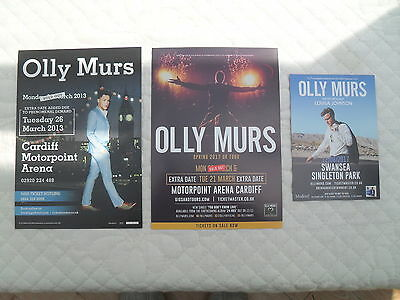 OLLY MURS - 3 different lovely colour tour flyers (Mint)