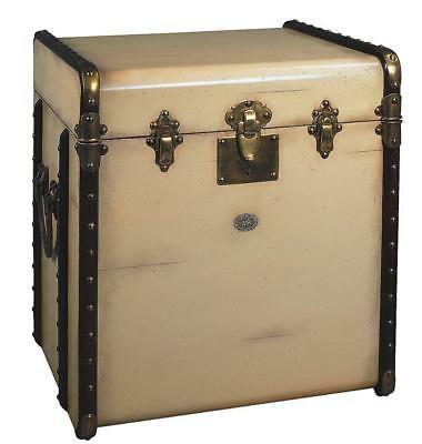 G707: Victorian Steamer Trunk, Maritime Sofa Table, Laundry Suitcase, Beige