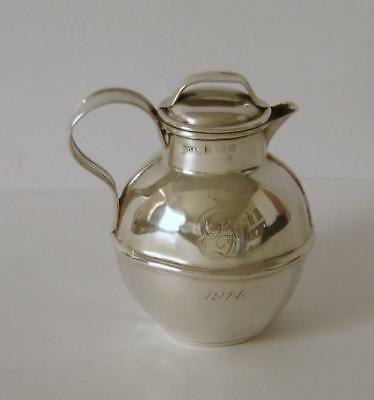 An Antique Sterling Silver Small Guernsey Milk Churn Cream Jug Birmingham 1913