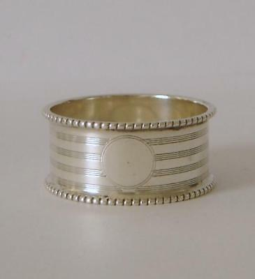 An Antique Sterling Silver Napkin Ring Birmingham 1913 William Henry Sparrow