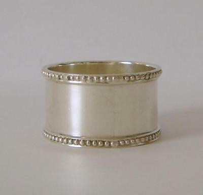 A Good Quality Very Heavy Sterling Silver Napkin Ring Sheffield 1921 42 Grams