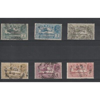 India Nglese 1929 George V Air Mail Posta Aerea  6 V Usati Mf18243