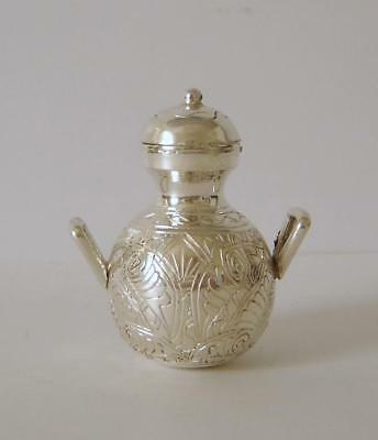 An Ornately Decorated Vintage Egyptian Solid Silver Miniature Urn