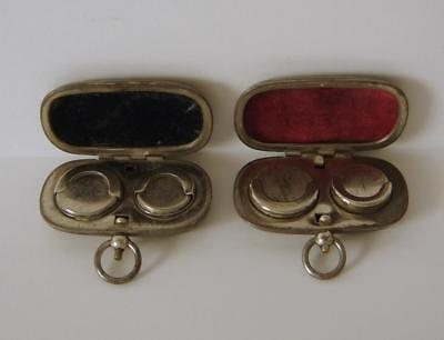 Two Vintage Metal Cased Sovereign & Half Sovereign Coin Holders