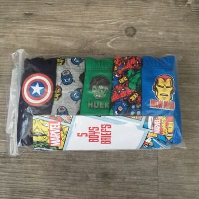 5 x Pairs Boys Marvel Avengers Underwear Pants Briefs Baby Age 18-24 Months