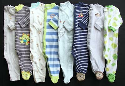 Baby Boy 6/9 9 Months Cotton Sleepers Pajama Clothes Lot Free Shipping