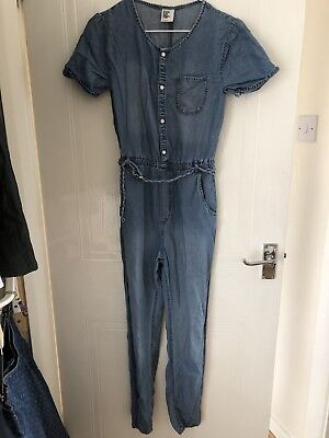 Girls Soft Denim Trouser Suit(Play/jump Suit) Age 12-13 Years