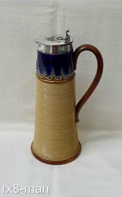 Superb Vintage Royal Doulton Lambeth Stoneware Lidded Jug By Olive Dale